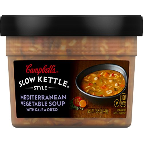 Campbell's Slow Kettle Style Soup, Mediterranean Vegetable with Kale & Orzo, 15.5 Ounce (Kale Soup)
