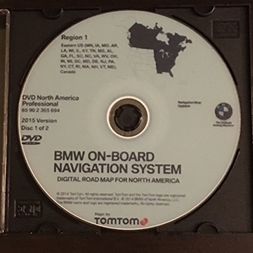 Bmw Navigation System (2015 BMW NAVIGATION UPDATE DVD EAST&WEST PROFESSIONAL VERSION)