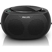 Philips AZ380/55 CD SoundMachine Portable Boombox Stereo USB/AUX MP3 Speaker System with AM/FM Radio and Dual AC/Battery Power Options (6 x C Not Incl.)