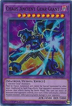 Super Rare Unlimited YuGiOh RATE-EN041 Chaos Ancient Gear Giant