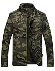 Jinmen Men's American Military camouflage Air Force One Jackets Bomber Outerwear