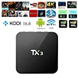 TX3 4K Streaming Media Player Android 5.1 S905 Quad-core Smart TV Box Fully Loaded Unlocked with Kodi 16.1 Preinstalled HDMI 4K 1GB 8GB Wifi 3D (1GB+8GB)