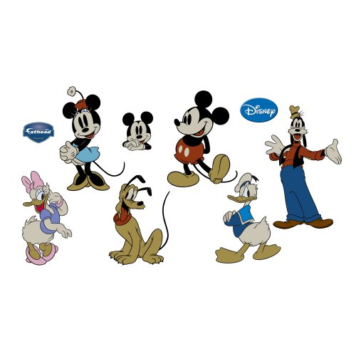 classic mickey mouse friends wall
