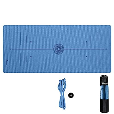 Wly&Home Yoga Mat, Non-Slip, TPE, Environmental Protection, Hypoallergenic, Skin-Friendly, Exercise Mats, Fitness Mats, Mat Sports, Mats And Straps, 183X80x0.8Cm