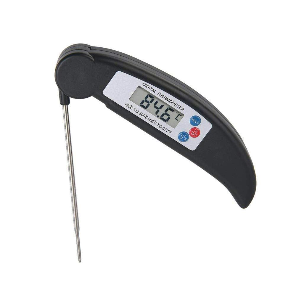 AROUSE Meat Thermometer Digital Instant Read Cooking Thermometer Electronic Food Thermometer for Grill Food, Grilling BBQ, Milk, Tea, Coffee,Black