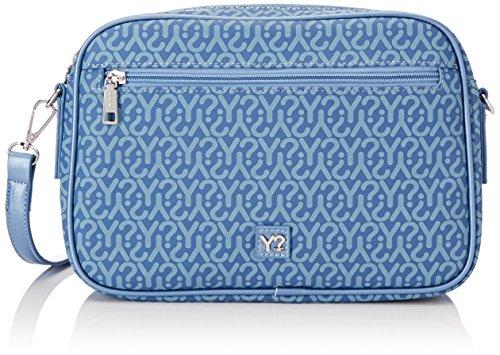 YNOT Gu1011/Pe18, Borsa a Tracolla Donna, 7x19x28 cm (W x H x L) Blu (Jeans)