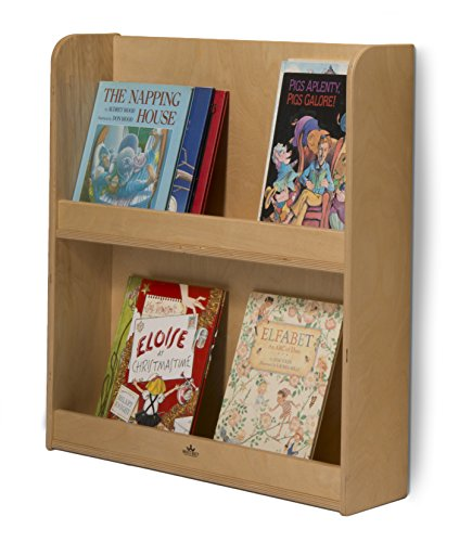 """Whitney Brothers Wall Mounted Kids Bookshelf with Bonus Stand Steady Kid's Guide! 