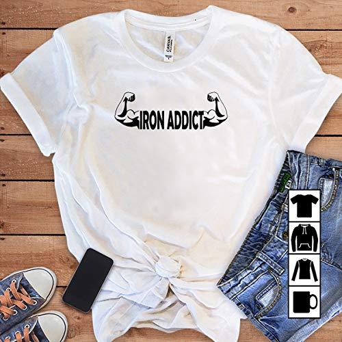 - Fitness Fitness iron addict T Shirt Long Sleeve Sweatshirt Hoodie Youth