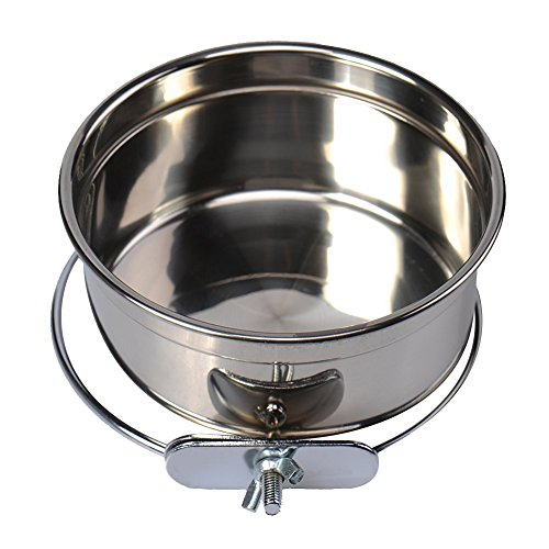 Blytieor Stainless Steel Hanging Pet Bowl,Food and Water Bowl for Dog Cat (Bowl Stoneware Lizard)
