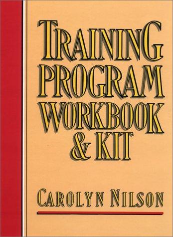 Training Program Workbook and Kit