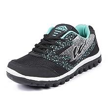 cca8a97fefb999 Asian shoes Riya 21 Black Firozi Women Sports Shoes 5 UK Indian Image