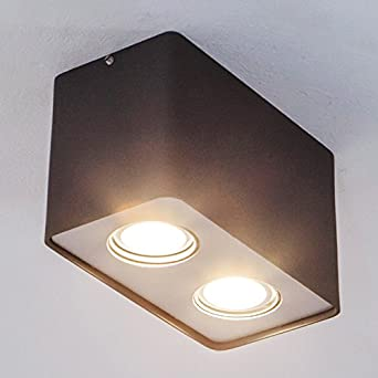 DEL Plafonnier GILIANO Plafonnier lampenwelt rectangulaire gu10 DEL DEL-Downlight