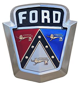 Old 1950 39 S Ford Emblem Decal Automotive