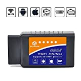 wsiiroon Car WIFI OBD 2, Wireless OBD2 Car Code Reader Scan Tool,Scanner Adapter