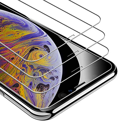(UNBREAKcable iPhone XS Max Screen Protector [3-Pack], 9H Hardness Tempered Glass for iPhone XS Max, Case Friendly, 2.5D Round Edge, Anti-Bubbles, Easy Install Tool, 3D Touch Support (Not Whole Screen))