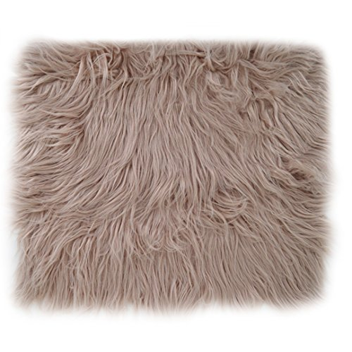 Monique Newborn Baby Soft Faux Fur Blanket Photography Blanket Carpet Photo Props Rug Background Backdrops Khaki