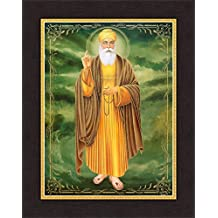 Avercart Guru Nanak Dev Ji / Gurunanak Sikh Religious Poster 30x40 cm with Photo Frame (12x16 inch framed)