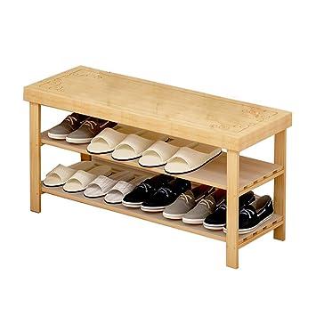 Astounding Amazon Com Shoe Rack Simple Bamboo 2 Layer Space Saving Theyellowbook Wood Chair Design Ideas Theyellowbookinfo