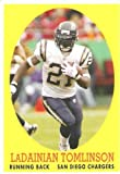 2007 Topps Turn Back The Clock # 10 LaDainian Tomlinson / San Diego Chargers / NFL Football Card - Mint Condition - In Protective Display Case