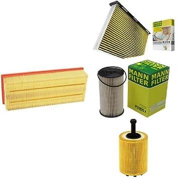 MANN-FILTER PAKET Luftfilter Innenraumfilter Ölfilter Kraftstofffilter
