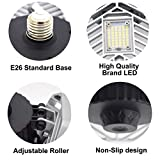 LZHOME 2-PACK LED Garage Lights, 6500Lumens E26/E27
