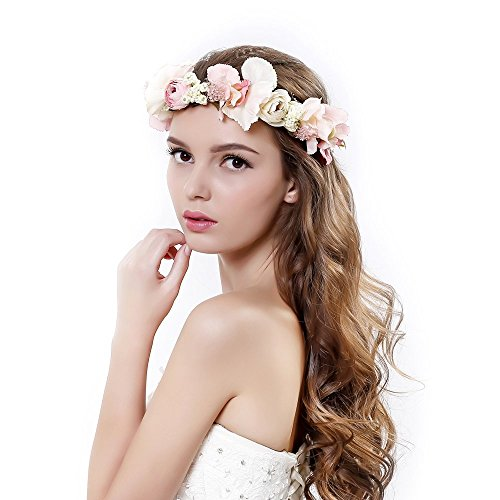 Handmade Rose Flower Wreath Crown Halo for Wedding Festivals
