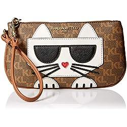 Karl Lagerfeld Paris Peeking Kitty SM - Muñequera, Brown/Khk/Lug/Gold, Talla unica