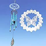 HoneForest Wind Chimes, Elegant Butterfly Design Medium Metal Windchime, Décor for Outdoor Indoor Garden Balcony Porch Backyard(29'') Review
