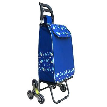 DSADDSD Equipaje Carrito de supermercado, Carrito de Compras Sobre Ruedas, Carro portátil - Tres Rondas (Color : A): Amazon.es: Hogar