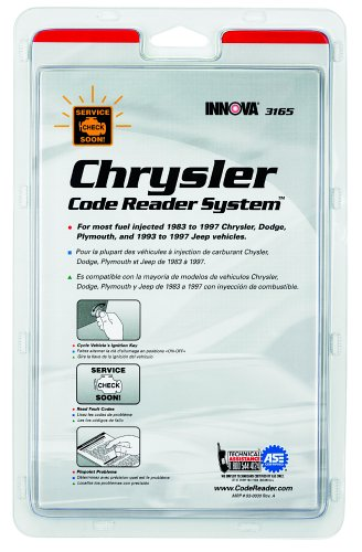 INNOVA 3165 Chrysler Code Reading System Booklet