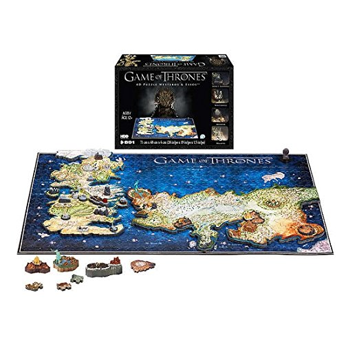 891-Pieces 4D Jigsaw Puzzle Game of Thrones Westeros and Essos, 3 Layers Puzzle Includes Replica Models, Poster Guide, Map Guide, and Double-Sided Stickers ()