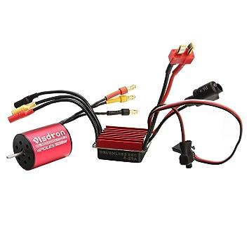 Amazon com: 2430 5800KV/7200KV Brushless Motor with 25A ESC