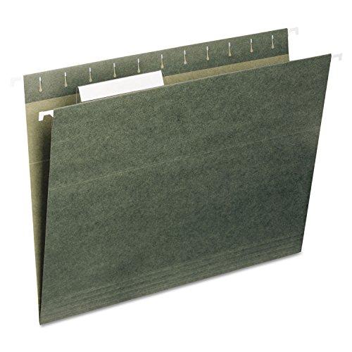 Universal 14215 Hanging File Folders, 1/5 Tab, 11 Point Stock, Legal, Standard Green, 25/Box