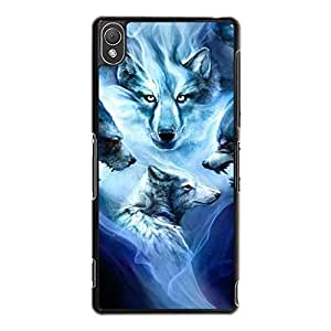 Sony Xperia Z3 Mobile Shell Agile Novel 3D Phone Case Snap on Sony Xperia Z3 Roaring Wolves Pattern Cover