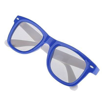 MagiDeal Tecnología Reald Gafas Polarizadas 3D para TV Movies Cinema HD DVD - Azul