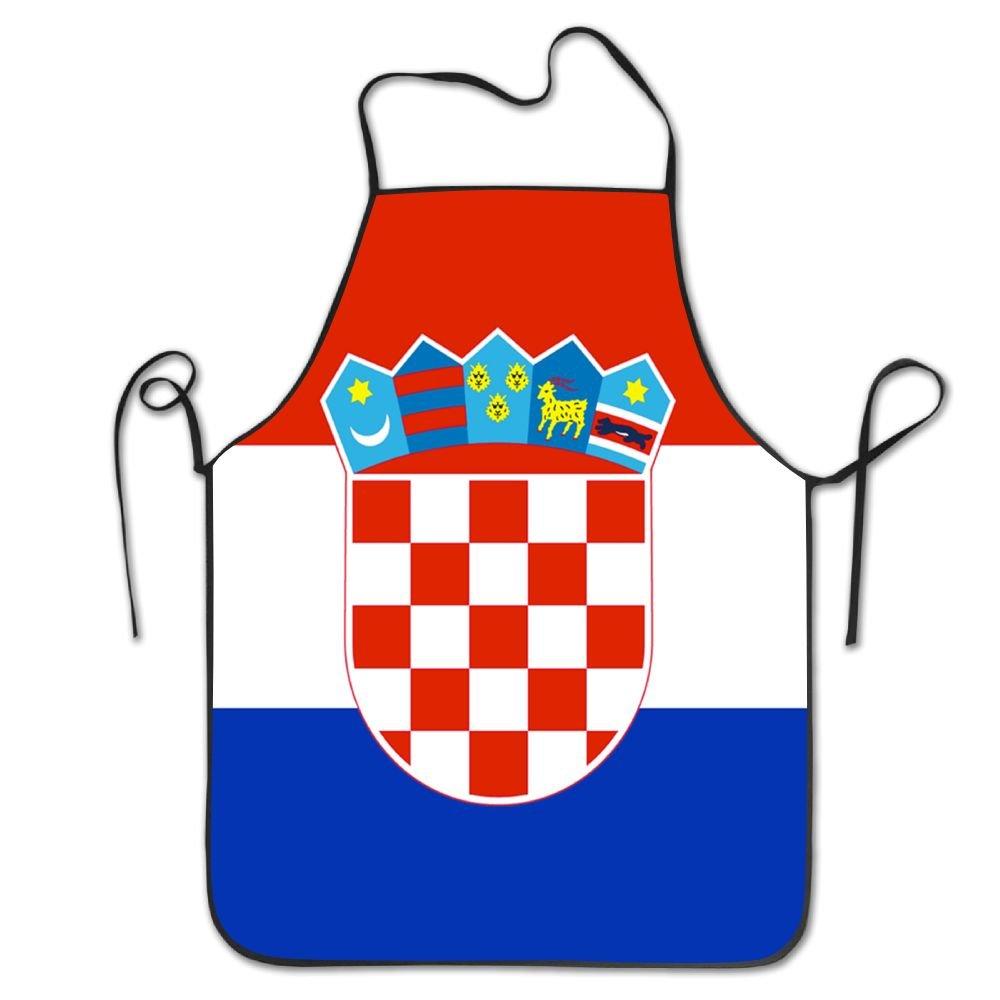 Yongchuang Feng Bandera de Croacia Unisex cocina barbacoa cocinero ...