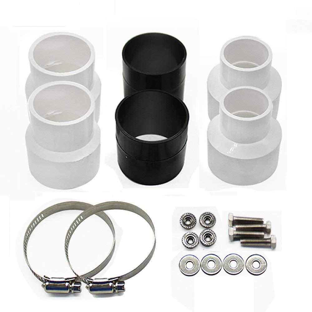 Kit de fixation jorshake la poussi/ère S/éparateur daspiration cyclonique Tube adaptateur connecteur de tuyau tuyau morceaux 2 * 40 * 32 mm + 2 * 50 mm Connect Adaptateur Fitting avec 2 * Colliers