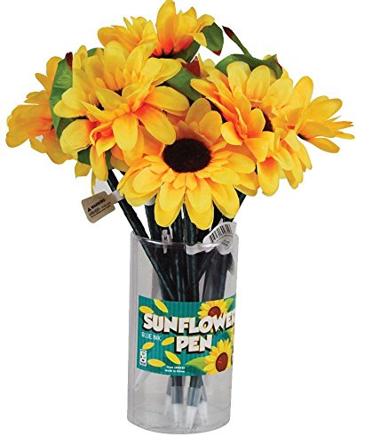 Raymond Geddes Sunflower Pen, 12 Pack (69931)