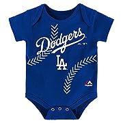 Los Angeles Dodgers STITCHES Infant Onesie Size 12 Months Bodysuit Creeper - Blue