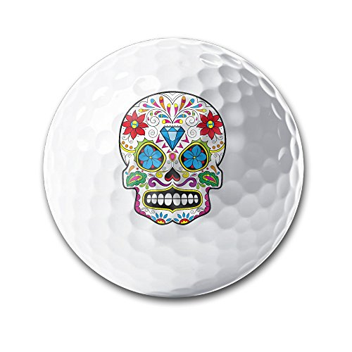 Mexico Floral Sugar Skull Diamond White Elastic Golf Balls Practice Golf Balls Golf Training Aid Balls by OYten