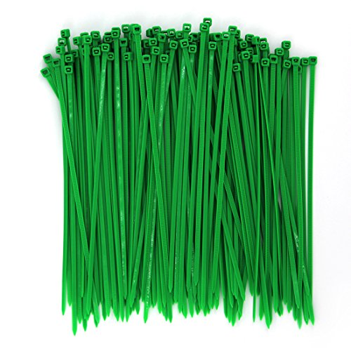 (Wide 8 Inch 150 Pack Strong Tree Grass Garden Green Color Heavy Duty Cable Zip Ties-Outdoor, Garden Ties Use, Office, Festivals and Kitchen)