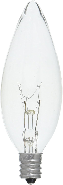 GE Crystal Clear 15w 95 Lumens 1.4 Year Life 2 Decorative B Type