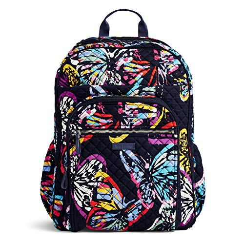 Vera Bradley Iconic XL Campus Backpack, Signature Cotton, butterfly flutter