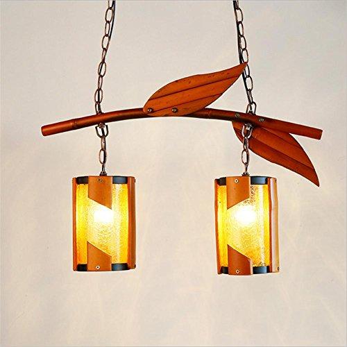 The Mediterranean Chandelier Creative Pastoral Bamboo Arts Pendant Lights Corridor Bedside Living (Light Marble Wall Washer)