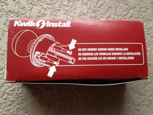 Kwikset Maximum Security 200C 15A RCAL RCS KI BBPKG Copa Passage Door Knob