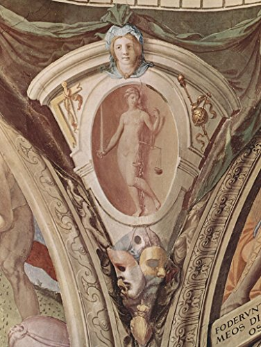 Medallion Palazzo (Lais Jigsaw Angelo Bronzino - Frescoes of the chapel of Eleanora da Toledo in the Palazzo Vecchio in Florence, medallions in the vaulted ceiling, scenes: allegories of the cardinal virtues, detail 200 Pieces)
