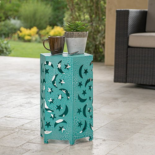 Neptune Outdoor 12 Inch Crackle Teal Iron