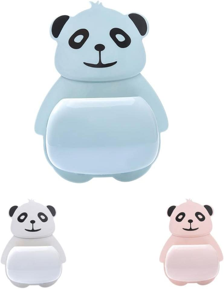 Lovely Cartoon Animal Suction Cup Toothpaste Rack for Mounting on Smooth Wall Diadia Perfect for Motivating Your Children to Brush Their Teeth Panda Toothbrush Holder for Kids