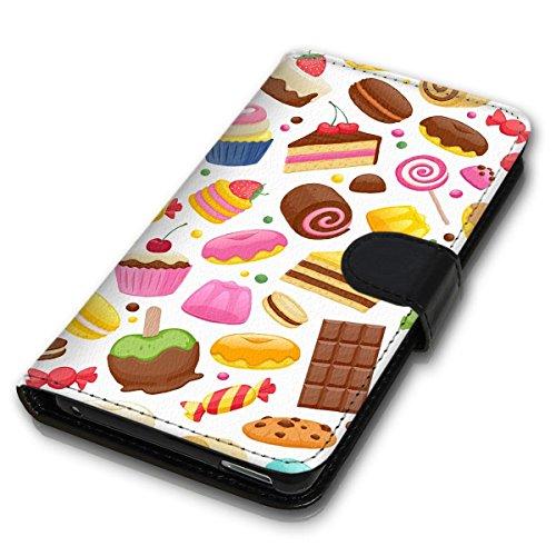 Wallet Book Style Flip Handy Tasche Case Schutz Hülle Schale Motiv Etui für Apple iPhone 5 / 5S - Design Flip MVD210