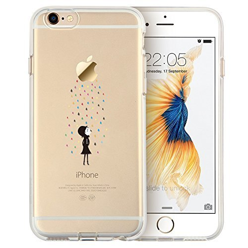 """iPhone 6s Plus Case, iPhone 6 Plus Case, ESR Soft Gel TPU Silicone Case Clear with Design Cute Cartoon Slim Fit Ultra Thin Protective Cover for 5.5"""" iPhone 6 Plus/iPhone 6s Plus (Rainbow)"""